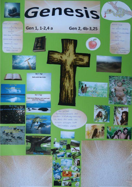 Collage bedrote Schöpfung Elisa Schäfer 8c